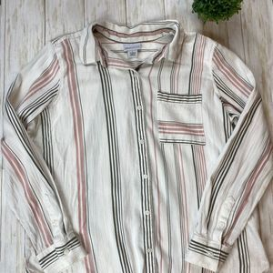 Liz Claiborne Tunic Button Down